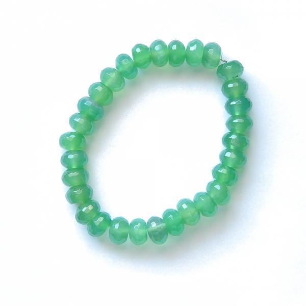 Vihreä akaattirannekoru 19cm