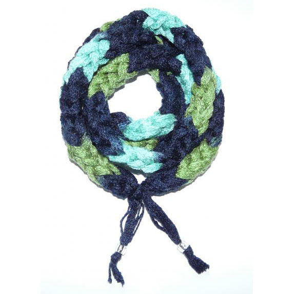 Punoskaulanauha sini-turkoosi-vihreä