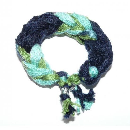 Punosrannekoru sini-turkoosi-vihreä